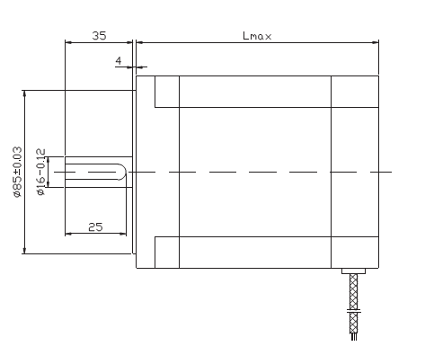 步进电机外形尺寸图: