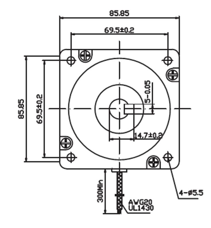 N95口罩机专用步进电机接线图
